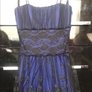Black and Royal blue with a Black and Silver layer